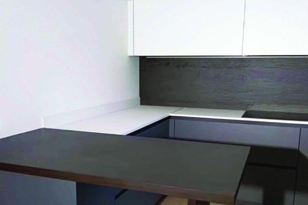 Cucina Dark Wood + White
